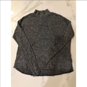 H&M Grey Mock-Neck Sweater Size: S